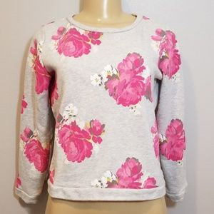 LOFT XS Petite floral long sleeve sweater
